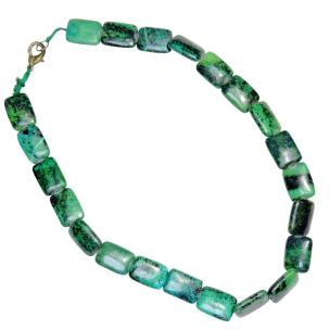 Satyamani Natural Chrysocolla Necklace for balancing and extremely calming