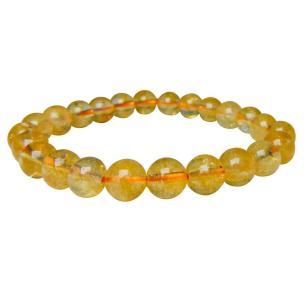 Satyamani Natural Citrine 8 MM Bead Bracelet