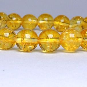 Satyamani Natural Citrine Bead Bracelet (Pack of 1Pc)