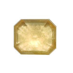 Satyamani Natural Cyelon Yellow Sapphire Loose Gemstone(Pack of 1 Pc.)