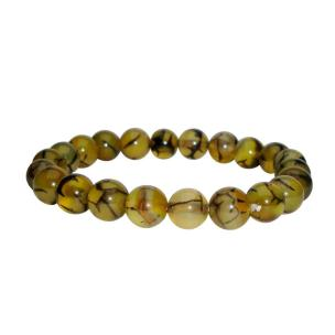 Satyamani Natural Dragon Vein Agate Beads Bracelet