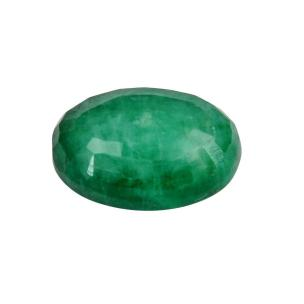 Satyamani Natural Emerald Oval Loose Gemstone(Pack of 1 Pc.)