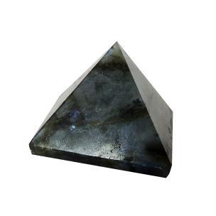 Satyamani Natural Energised Labradorite Pyramid 50 mm (Pack of 1 Pc.)