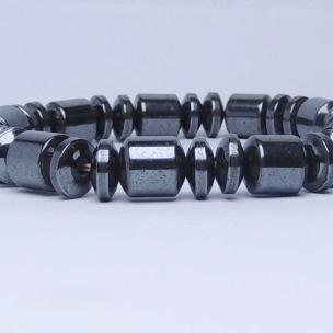 Satyamani Natural Energised Magnetite Button Pipe Bracelet