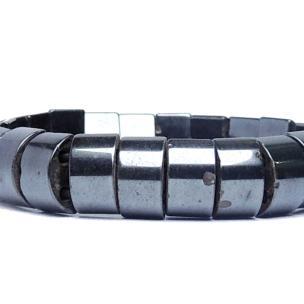 Satyamani Natural Energized Magnetite Flat Bracelet