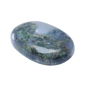 Satyamani Natural Energised Moss Agate Massage Palm Stone