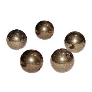 Satyamani Natural Energised Pyrite 10 mm Beads (Pack of 1 Pcs.)