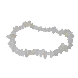 Satyamani Natural Energised White Moon Stone Chip Bracelet (Pack of 1Pc)