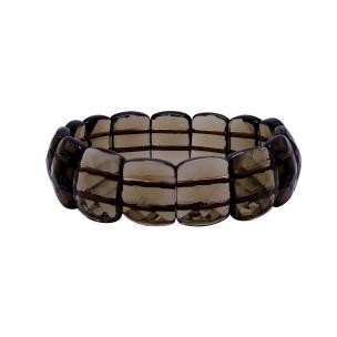 Satyamani Natural Energized Smokey Quartz Broad Faceted Bracelet
