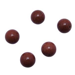 Satyamani Natural Energized Sun Stone Beads 12 mm (Set of 5 pc.)