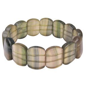 Satyamani Natural Flourite Broad Cabochon Bracelet For calmness