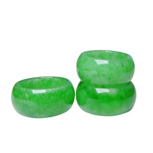Satyamani Natural Green Onyx Ring