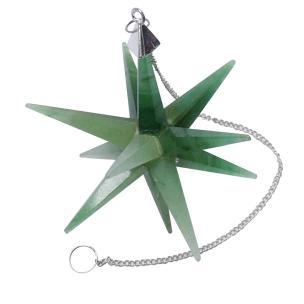 Satyamani Natural Jade Galaxy Merkaba Star with Healing Properties