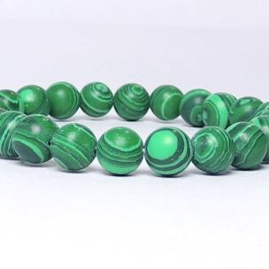 Satyamani Natural Malachite Beads Bracelet (Pack of 1Pc)
