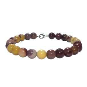 Satyamani Natural Mookaite Bracelet with Hook