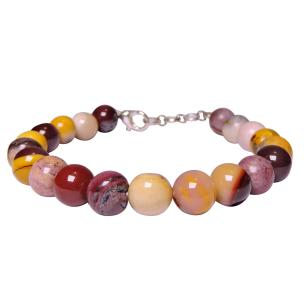 Satyamani Natural Mookite Jasper bead with Hook Bracelet