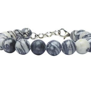Satyamani Natural Multi Picasso Jasper 8 MM Beads Bracelet with Hook