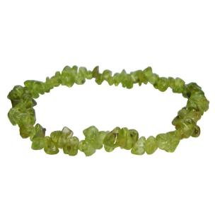 Satyamani Natural  Peridot Gemstone Chips Bracelet