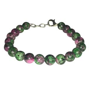 Satyamani Natural Ruby Zoisite Beads Bracelet with Hook