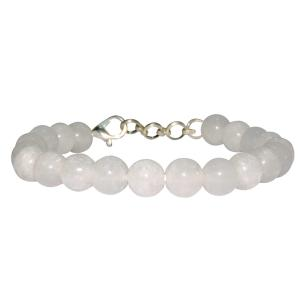 Satyamani Natural White Moonstone Bead with Hook Bracelet (Pack of 1Pc)