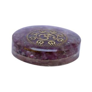 Satyamani Orgonite small Paper Weight With Amethyst & Symbol Power Art 5