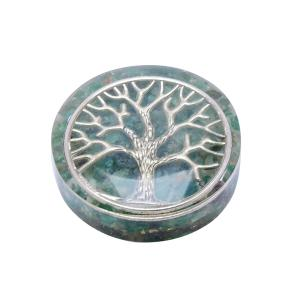 Satyamani Orgonite small Paper Weight With Green Aventurine & Symbol Power Art 1