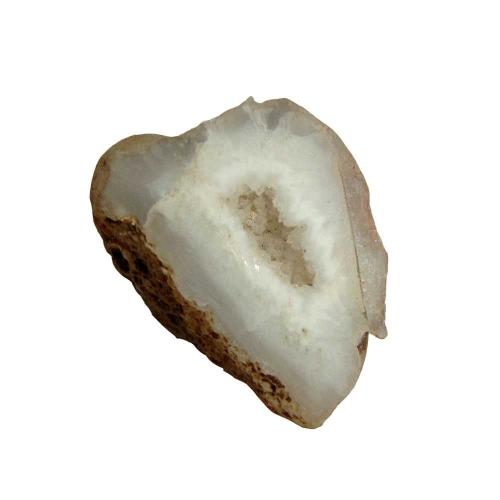11.5 gm Satyamani Natural Crystal Quartz Geode Half
