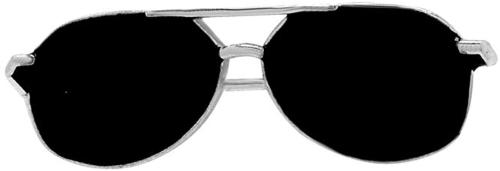 Satyamani Silver Metal Sunglasses Label Pin