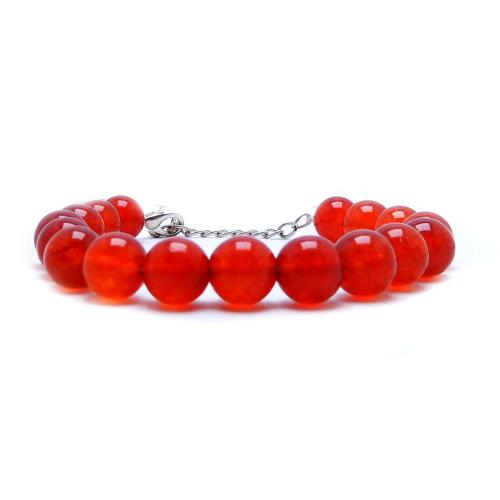 Satyamani Natural Carnelian Love Beed Bracelet with Hook (Pack of 1Pc)