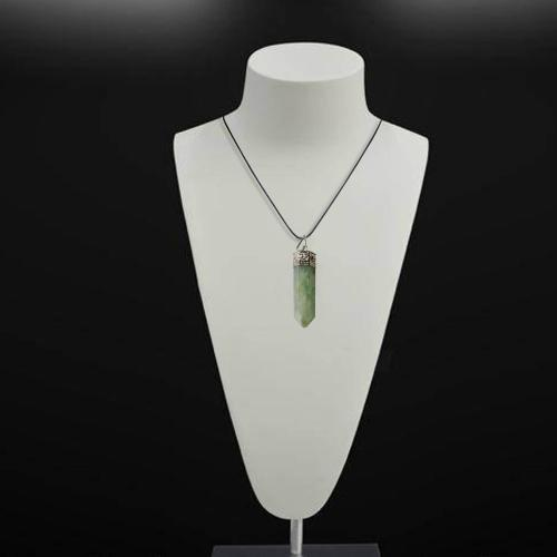 Satyamani Natural Green Aventurine Point Pendant