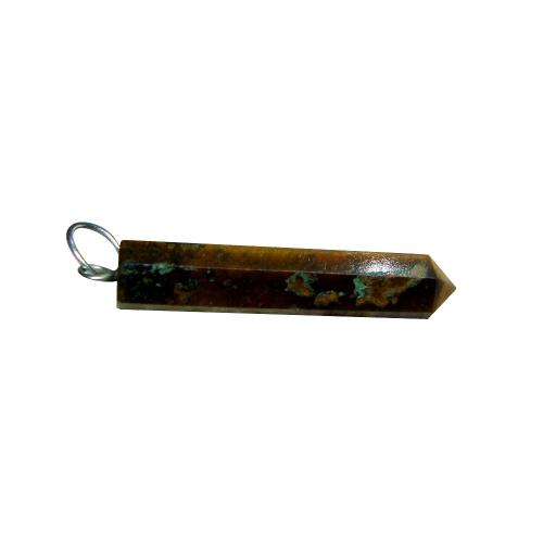 Satyamani Natural Tiger Eye Point Pendant