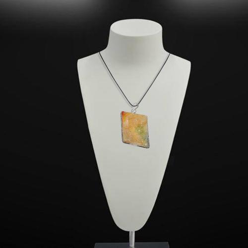 Satyamani Natural Druzy Stone Pendant Art 9