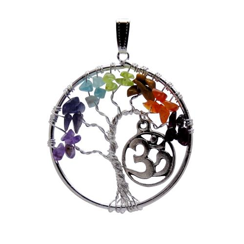 Satyamani Life Tree Pendant 45 mm with Om