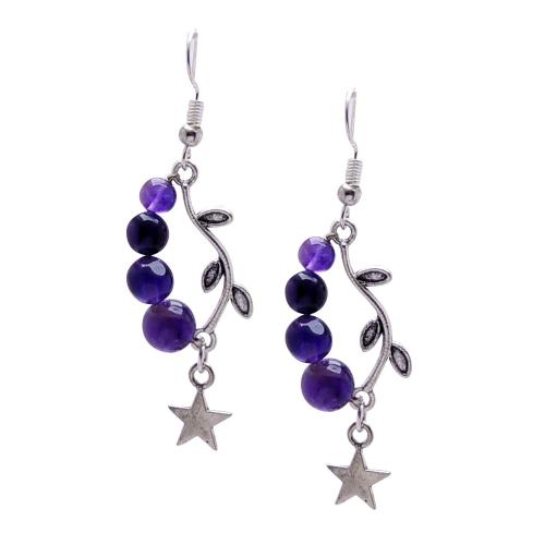 Satyamani Natural Four Bead Star earring