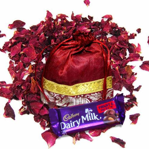Satyamani Special Valentine with Chocolate/Rose Petals/Crystals