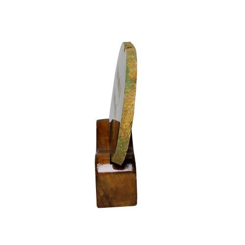 Satyamani Decorative Natural Agate Plate 4.5 Inch
