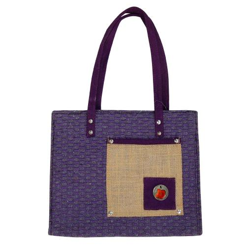 Eco Friendly Purple Multipurpose Reusable Shoulder Shopping Carry Bag (Pack of 2 Bags)