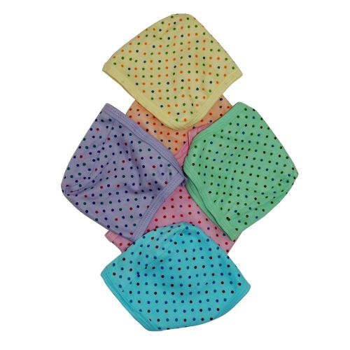 Life Begin with Satyamani Baby Just Dots Cap Extra Large (6 months above) (Pack of 6)