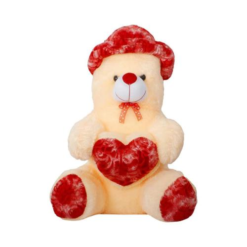 Satyamani Bachpan Teddy Bear with Hat Soft Toy Love Fun Play Showpiece