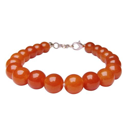 Satyamani Red Aventurine Beads with Hookh Bracelet (Pack of 1Pc)