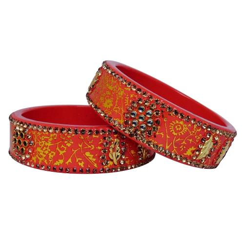 Satyamani Jaipur Typical Lac Fashion Jewellary Bangles (set pf 2 pcs.) Art 5