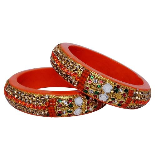 Satyamani Jaipur Typical Lac Jewellary Bangles Art 5 (set pf 2 pcs.)