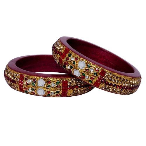 Satyamani Jaipur Typical Lac Jewellary Bangles Art 7 (set pf 2 pcs.)