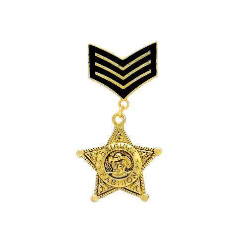 Satyamani Metal Designer Brooch Medal with Star