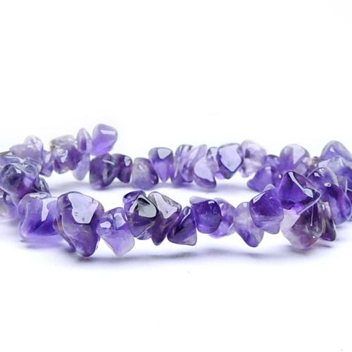 Satyamani Natural  Amethyst Gemstone Chips Bracelet