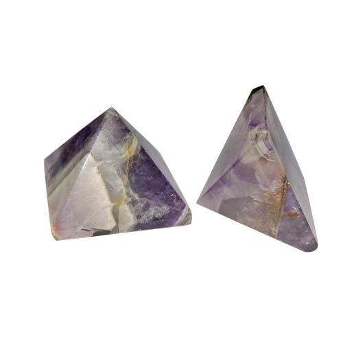 Satyamani Natural Amethyst Pyramid 55 mm.