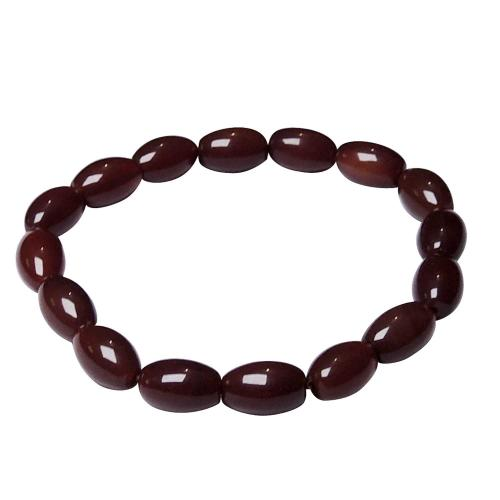 Satyamani Natural Carnelian Tube Shape Bead Bracelet For Stimulates Creativity & Motivation