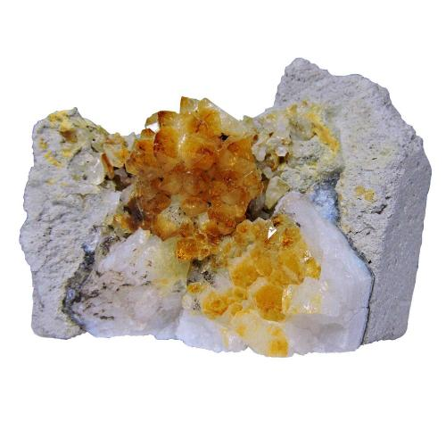 Satyamani Natural Energized Citrine Cluster For Reiki & Wealth Prosperity