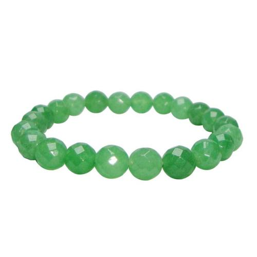 Satyamani Natural Green Aventurine Faceted Bracelet For Success, Attracting Money and Abundance