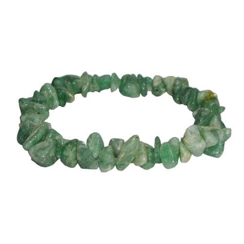 Satyamani Natural Green Aventurine Gemstone Chips Bracelet (Pack of 1Pc)
